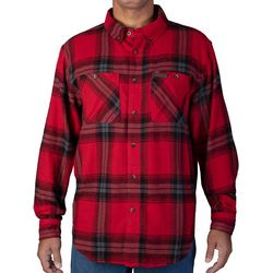 Smith's Workwear Mens Full-Swing Red Flannel Shirt