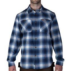 Smith's Workwear Mens Full-Swing Blue & White Flannel Shirt