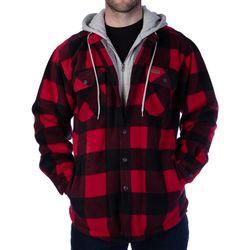 Smith's Workwear Mens Sherpa MicroFleece Hooded Jacket