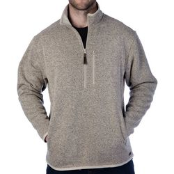 Smith's Workwear Mens 1/4 Zip Sweater Fleece Jacket
