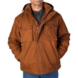 Smith's Workwear Mens Sherpa Duck Canvas Hooded Work Jacket