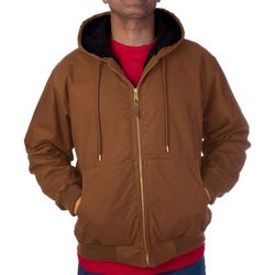Smith's Workwear Mens Sherpa Duck Canvas Hooded Jacket