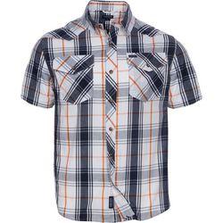 Smith's Workwear Mens Black & White Western Plaid Shirt