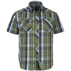 Smith's Workwear Mens Moss Green Western Plaid Shirt