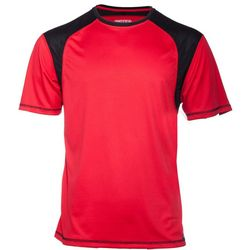 Smith's Workwear Mens Contrast Textured Red T-Shirt