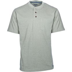 Smith's Workwear Mens Gusset Henley Heather T-Shirt