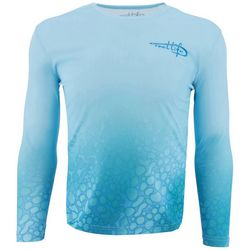 Reel Life Mens Amphibian Fade Up Long Sleeve T-Shirt