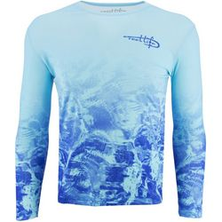 Reel Life Mens Amphibian Blue Waters Long Sleeve T-Shirt