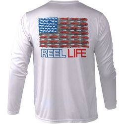 Reel Life Mens Merica Performance Long Sleeve T-Shirt