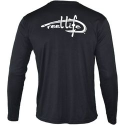 Reel Life Mens Classic Logo Performance Long Sleeve T-Shirt
