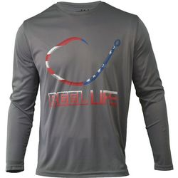 Reel Life Mens Freedom Hook Performance Long Sleeve T-Shirt