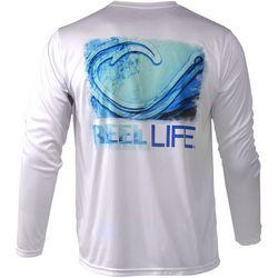 Reel Life Mens Hook Wave Performance Long Sleeve T-Shirt