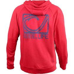 Reel Life Mens Circle Hook Logo Hoodie
