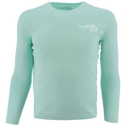 Reel Life Mens Rip Tide Scales Long Sleeve T-Shirt