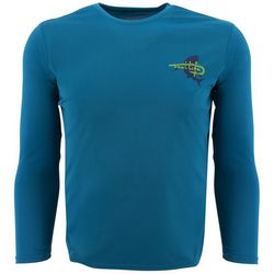 Reel Life Mens Rip Tide Shark Long Sleeve T-Shirt