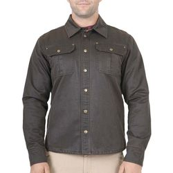 Mountain and Isles Mens Flannel Lined Waxed Cotton Jacket