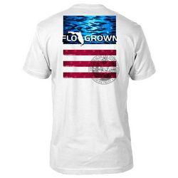 FloGrown Mens Fish School USA T-Shirt
