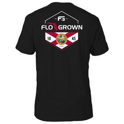 Mens Poly Flag Split T-shirt