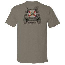 FloGrown Mens Beach Bound Heathered Graphic T-Shirt