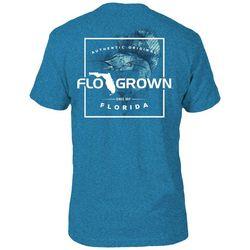 FloGrown Mens Sailfish Script Blue T-Shirt