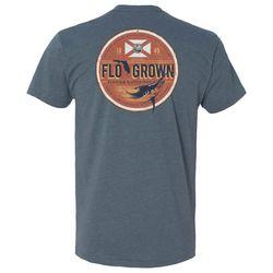 FloGrown Mens Vintage Tin Sign Graphic T-Shirt