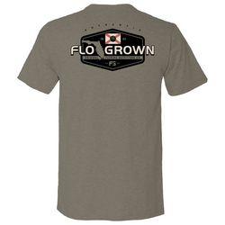 FloGrown Mens Standard Crest Graphic T-shirt
