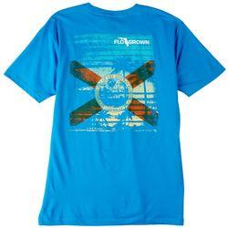FloGrown Mens Grunge Beach Graphic  T-Shirt