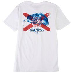 FloGrown Mens Tonal Bass Flag Graphic T-Shirt