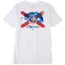 Mens Tonal Bass Flag Graphic T-Shirt