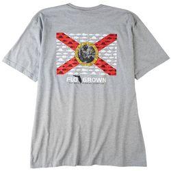FloGrown Mens Multi Fish Flag Graphic Heathered T-Shirt
