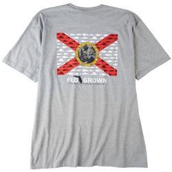 Mens Multi Fish Flag Graphic Heathered T-Shirt