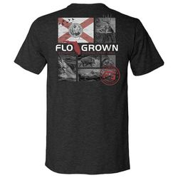 FloGrown Mens Multiplane Sportsman Heathered Graphic T-Shirt