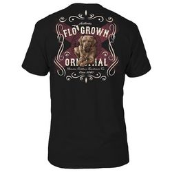 FloGrown Mens Southern Label Dog Graphic T-Shirt