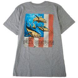 FloGrown Mens Tuna Flag USA T-shirt