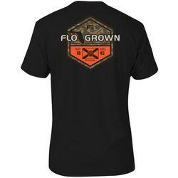 FloGrown Mens Sportsman Badge Graphic T-shirt