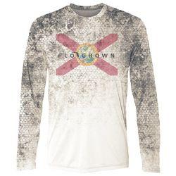 FloGrown Mens Swamp Skin Performance Long Sleeve T-Shirt