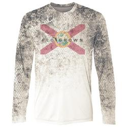 Mens Swamp Skin Performance Long Sleeve T-Shirt