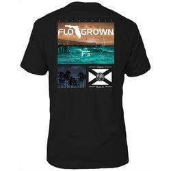FloGrown Mens Pier Photo Graphic T-Shirt