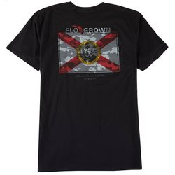 FloGrown Mens Greyscale Camo Graphic T-Shirt