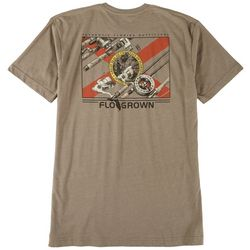 FloGrown Mens Logo Florida Fishing Pole T-Shirt