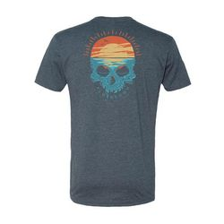 FloGrown Mens Sunset Skull T-shirt