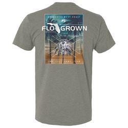 FloGrown Mens Sunset Palms Graphic T-shirt