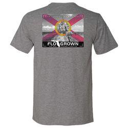 FloGrown Mens Trolling Flag Heathered T-Shirt