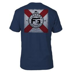 FloGrown Mens FL Flag Square T-shirt