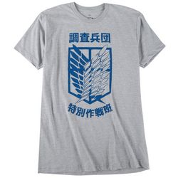 Ripple Junction Mens Attack On Titan Heather Graphic T-Shirt