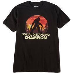 Mens Social Distancing Champion Sasquatch T-Shirt