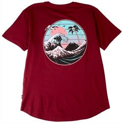 Dikotomy Mens Great Wave Graphic T-Shirt