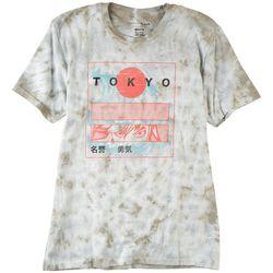 Basics Original BlacK Mens Tokyo Tie Dye Graphic T-Shirt