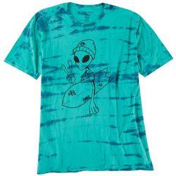 Basics Mens Original Black Far Out Tie Dye Graphic T-Shirt