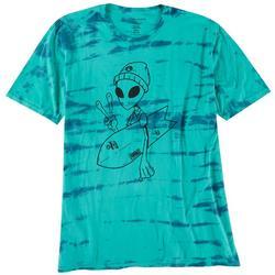 Mens Original Black Far Out Tie Dye Graphic T-Shirt